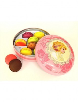 coffret macarons lady box