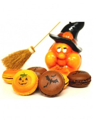 16 macarons Halloween