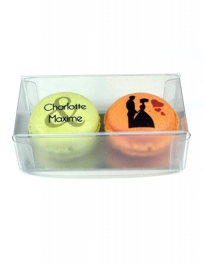 2 macarons personnalisés mariage
