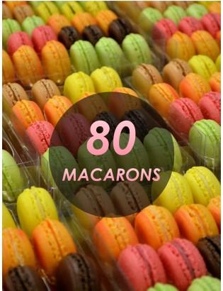 80 macarons - planet macarons