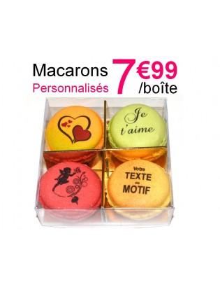 boite 4 macarons personnalisés - planet macarons
