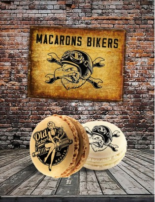 16 macarons bikers