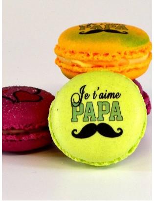 je t'aime papa - planet macarons