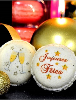 joyeuses fetes - macarons