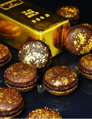 coffret gold - macarons or - planet macarons