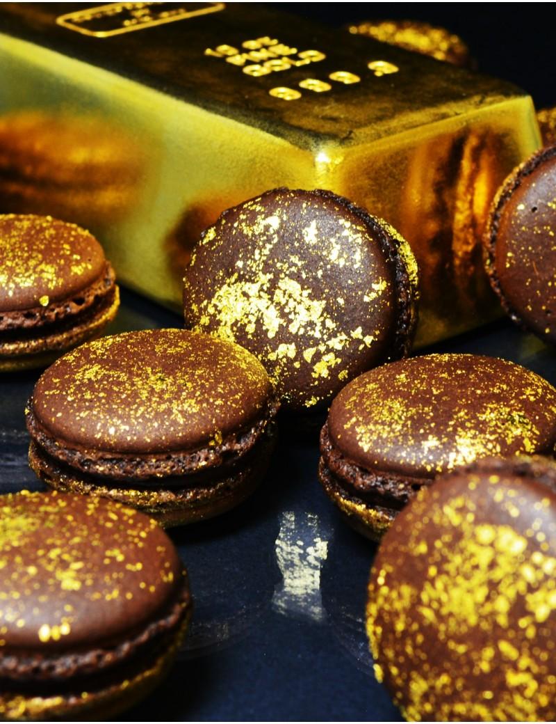 macarons en or