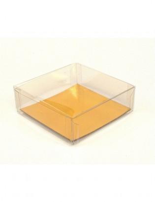 boîte carrée fond or