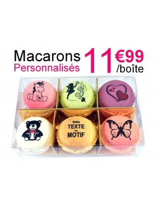 boite 6 macarons personnalisés - planet macarons