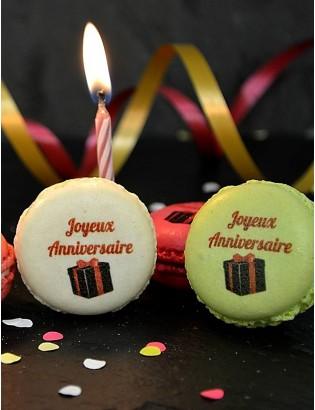 Coffret macarons Joyeux anniversaire