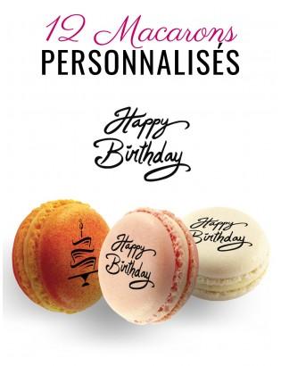 happy birthday macarons