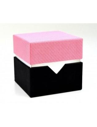 cube rose : 4-5 macarons