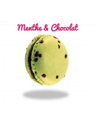 Macaron Menthe & Chocolat