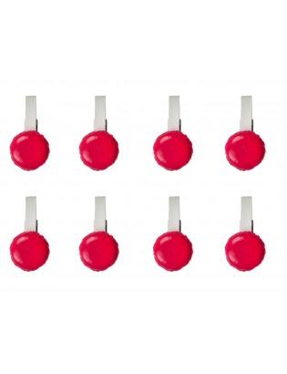 8 mini pinces macarons rouge - planet macarons