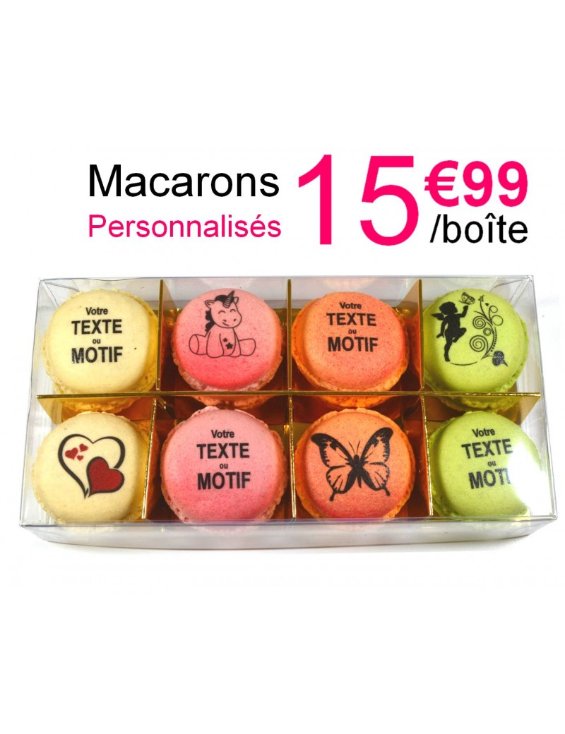 8 macarons personnalisés - planet macarons
