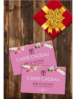 Carte cadeau 50€ - planet macarons
