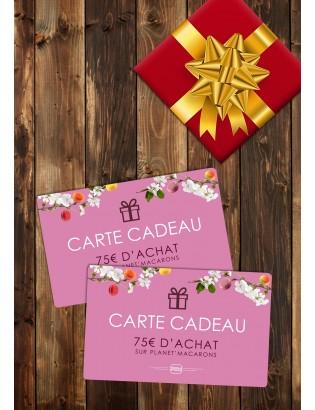 Carte cadeau 75€ - planet macarons