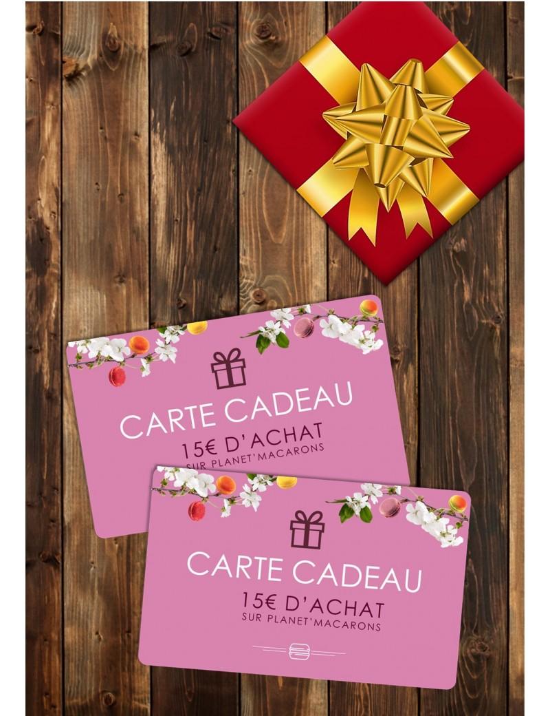 carte cadeau 15€ - planet macarons